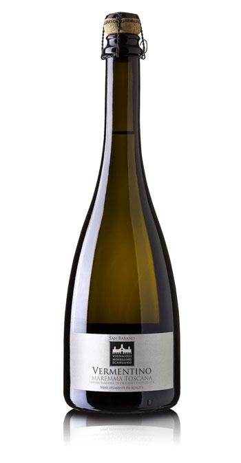 Bottiglia di San Rabano Vermentino Spumante Maremma Toscana Doc