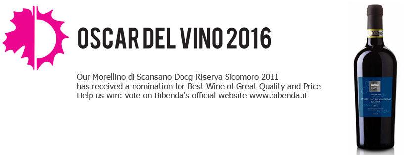 Il nostro Morellino di Scansano Sicomoro candidato agli Oscar del Vino