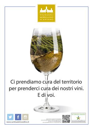 immagine pubblicitaria dei Vignaioli del Morellino di Scansano per la sostenibilità ambientale