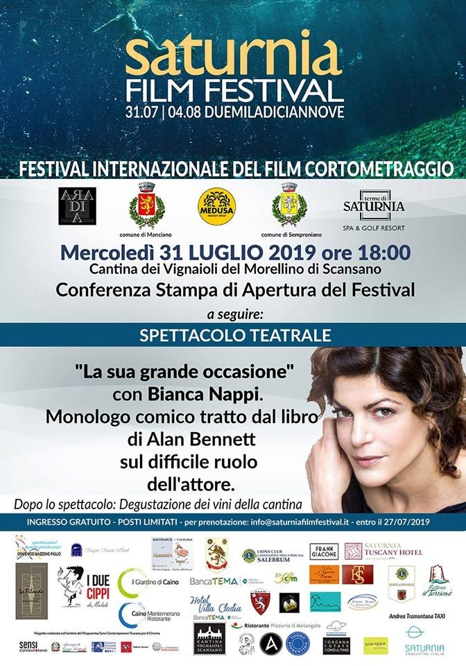 locandina evento saturnia film festival
